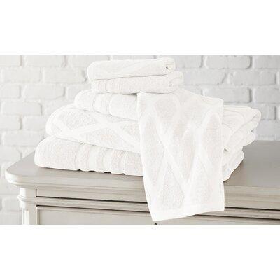 6 Piece Towel Set Color: White