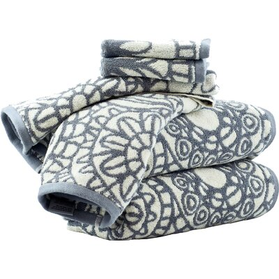 Cotton 6 Piece Towel Set Color: Dove