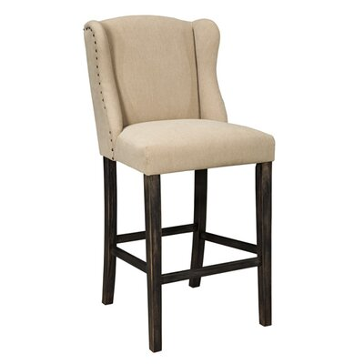 Carbondale 24.25 Bar Stool with Cushion (Set of 2) Seat Height: 30.5