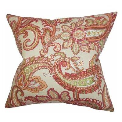 Glasgow Floral Throw Pillow Color: Orange, Size: 20 x 20