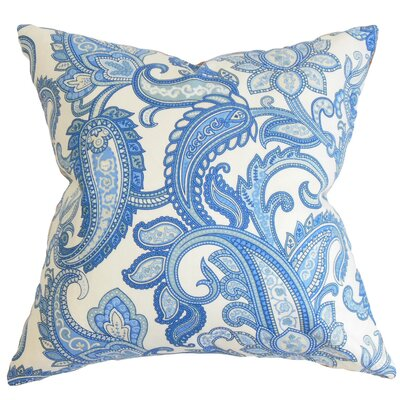 Glasgow Floral Throw Pillow Color: Blue, Size: 20 x 20