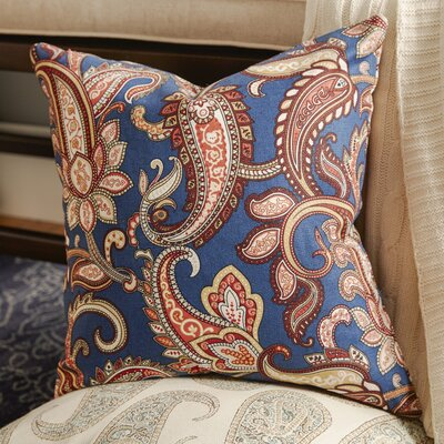 Glasgow Floral Throw Pillow Color: Navy Blue, Size: 20 x 20