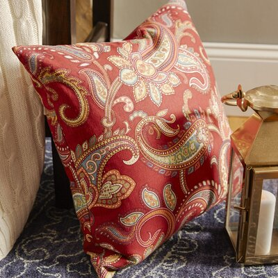 Glasgow Floral Throw Pillow Color: Red, Size: 20 x 20