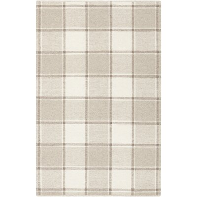 Carnkeeran Lakewood Hand-Woven Gray Area Rug Rug Size: 4 x 6