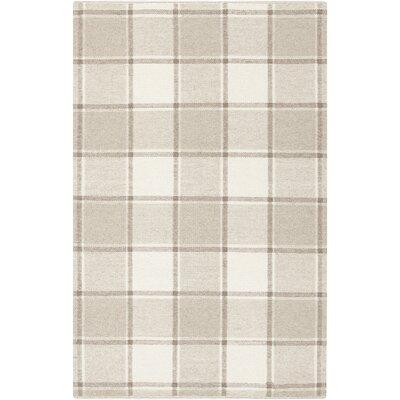 Carnkeeran Lakewood Hand-Woven Gray Area Rug Rug Size: 5 x 76