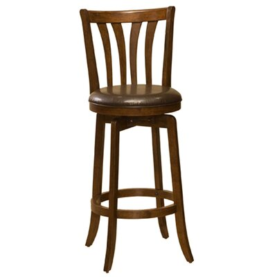 Albrecht 25.5 Swivel Bar Stool Frame Finish: Cherry