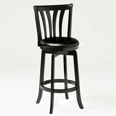 Marland 29.5 Swivel Bar Stool Frame Finish: Black