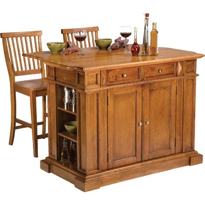 Mattice 3 Piece Kitchen Island Set Base Finish: Cottage Oak
