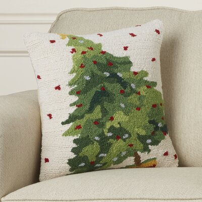 Leo Tree Hook Wool Throw Pillow