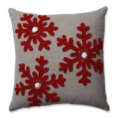 Gryselda Snowflakes 100% Cotton Throw Pillow