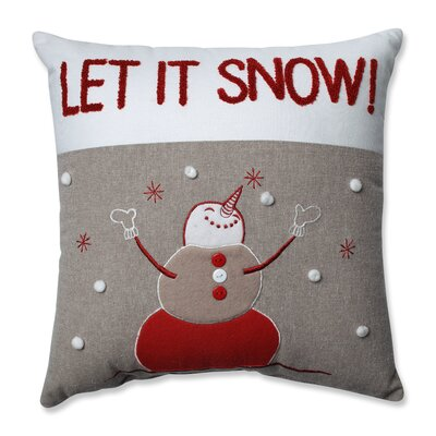 Gryselda Snowman 100% Cotton Throw Pillow