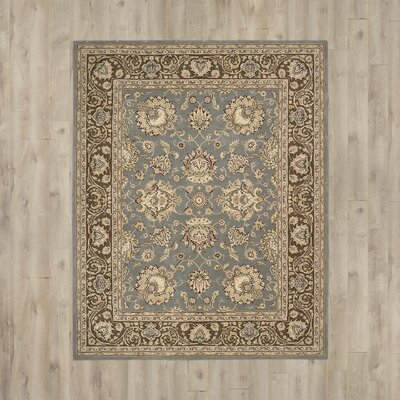 Media Hand-Tufted Blue/Brown Area Rug Rug Size: 5' x 8'