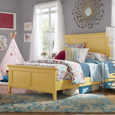 Isabella Panel Bed Color: Yellow, Size: Twin