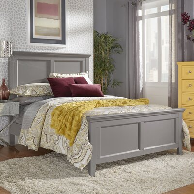Isabella Panel Bed Color: Frost Gray, Size: Twin
