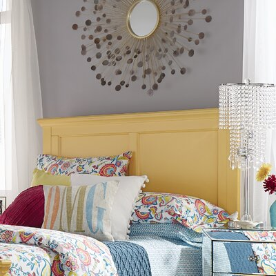 Isabella Panel Headboard Color: Yellow, Size: Queen
