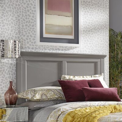 Isabella Panel Headboard Color: Frost Gray, Size: Queen