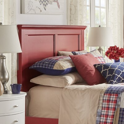 Isabella Panel Headboard Color: Samba Red, Size: Twin