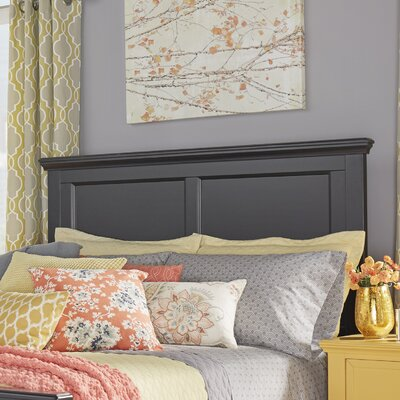 Isabella Panel Headboard Color: Vulcan Black, Size: Twin