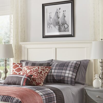 Isabella Panel Headboard Color: Off-White, Size: Twin