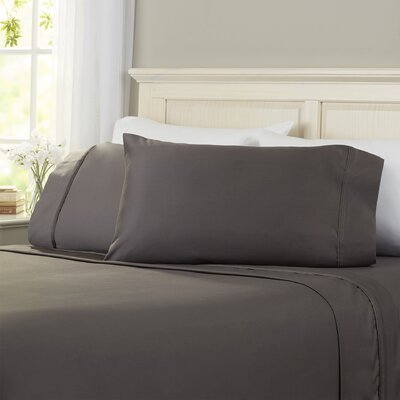 Superior 1200 Thread Count 100% Cotton Sheet Set Size: Queen, Color: Charcoal