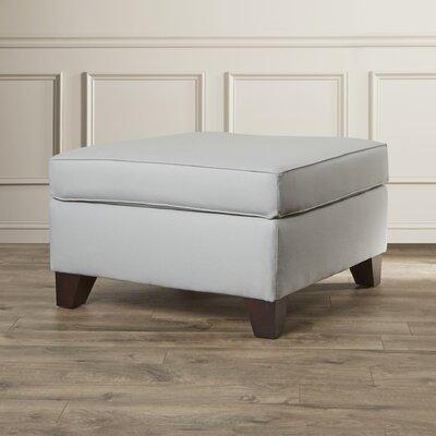 Adelina Ottoman Upholstery: Light Slate