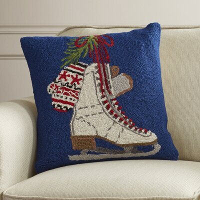 Ices Skates Hook Wool Throw Pillow
