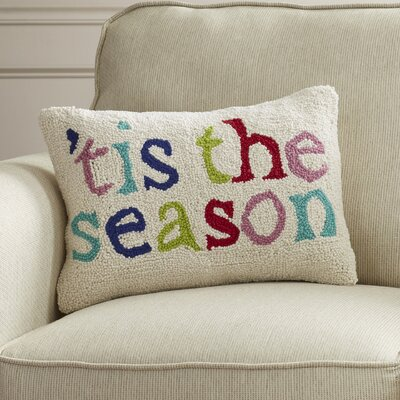 Tis The Season Hook Wool Throw Pillow