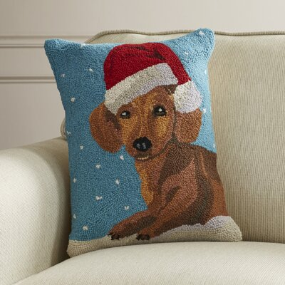 Theiss Christmas Hook Wool Throw Pillow