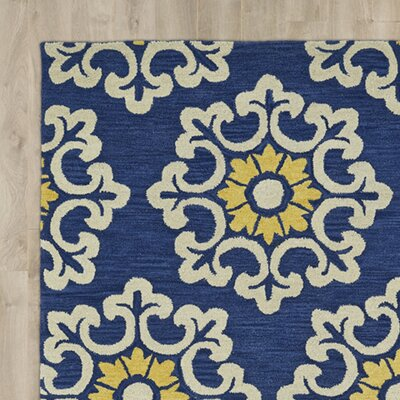 Tunstall Hand-Tufted Blue Area Rug Rug Size: Rectangle 9' x 12'