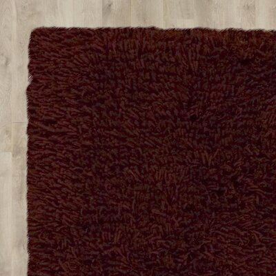 Ratchford Handmade Rust Area Rug Rug Size: Rectangle 36 x 56