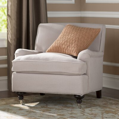 Chloe Armchair Upholstery: Taupe