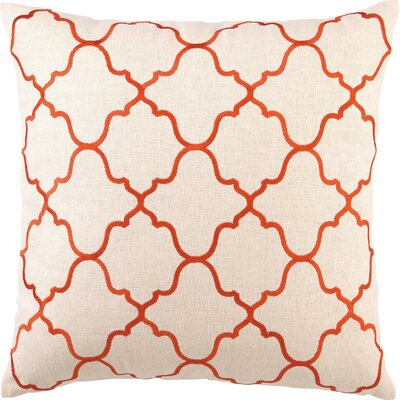 Blair Linen Throw Pillow Color: Orange