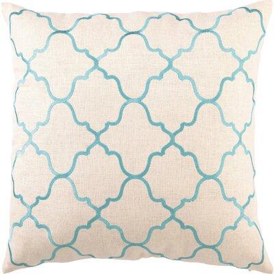 Blair Linen Throw Pillow Color: Turquoise