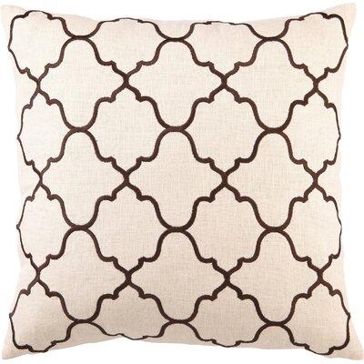 Blair Linen Throw Pillow Color: Brown