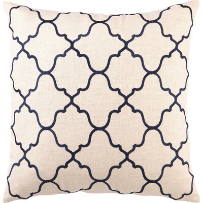 Blair Linen Throw Pillow Color: Navy