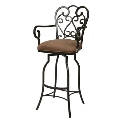 Aloysius 31 Swivel Bar Stool Upholstery: Florentine Coffee