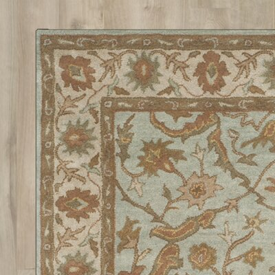 Heritage Tufted Wool Light Blue/Ivory Area Rug Rug Size: Square 6