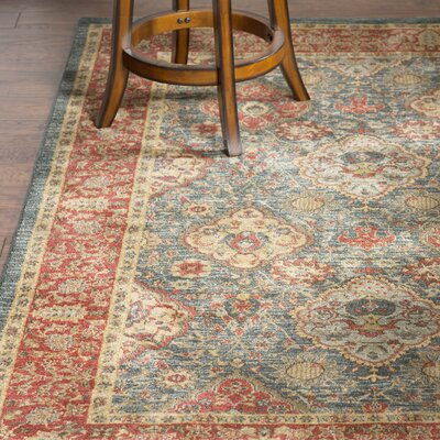 Alto Red/Blue Area Rug Rug Size: Runner 22 x 14