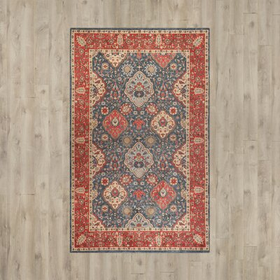 Alto Navy/Red Area Rug Rug Size: Runner 22 x 6