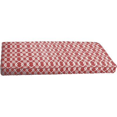 Byron Outdoor Bench Cushion Color: Red