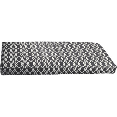 Byron Outdoor Bench Cushion Color: Black