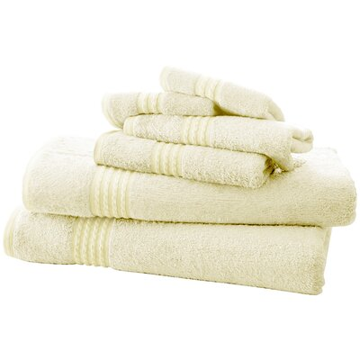 Baumgarten 6 Piece Towel Set Color: Ivory