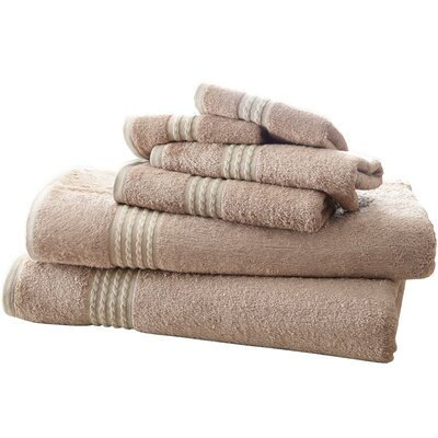 Baumgarten 6 Piece Towel Set Color: Taupe