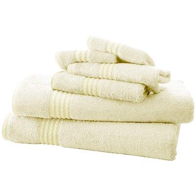 Baumgarten 6 Piece Towel Set Color: Ivory