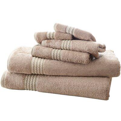 Baumgarten 6 Piece Towel Set Color: Taupe