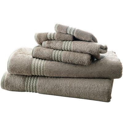 Baumgarten 6 Piece Towel Set Color: Gray