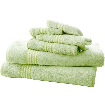 Baumgarten 6 Piece Towel Set Color: Sage