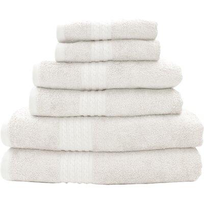 Baumgarten 6 Piece Towel Set Color: White