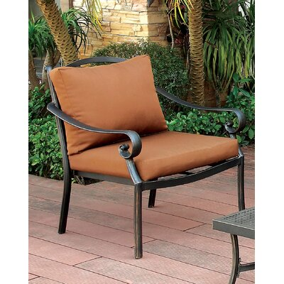 Schoenberg Scrolled Arm Chair with Cushion