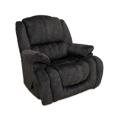 Velma Manual Rocker Recliner Upholstery: Charcoal